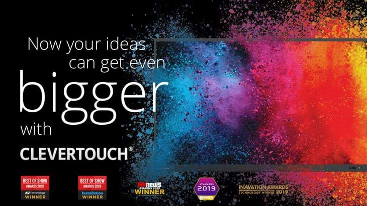 Clevertouch 98 Slogan Med Awards